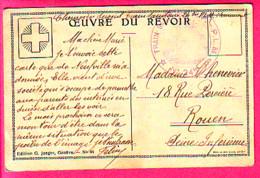 MILITARIA MEDECINE CACHET ROND TRAIN SANITAIRE S P - P L M N°24 Bis SUR CARTE LE REVOIR - 1914-18