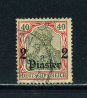 GERMAN PO'S IN TURKEY  -  1905 Germania Deutches Reich Definitive 2p On 40pf Used As Scan (creased Corner) - Offices: Turkish Empire