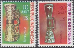 Republik Indonesia West Irian 1970 - Wood Carvings - Mi 31, 39 ** MNH [1383] - Indonesien