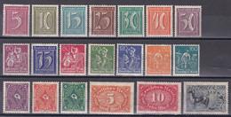 Deutsches Reich 1921/22 - Mi.Nr. 177 - 196 - Postfrisch MNH - Nuevos