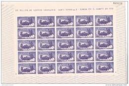 España Nº 1255 En Pliego De 25 Sellos - 1951-60 Ungebraucht