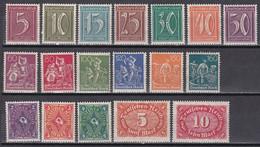 Deutsches Reich 1921 - Mi.Nr. 158 - 175 - Postfrisch MNH - Nuevos