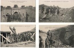 D55  FORT DE TROYON Bombardement Du 8 Septembre 1914  LOT DE 9 CPA - Altri Comuni