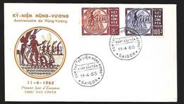 Vietnam  FDC 11 04   1965 Anniversarede Hung  Vuong - Vietnam
