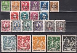 Deutsches Reich 1920 - Mi.Nr. 119 - 138 - Postfrisch MNH - Nuevos