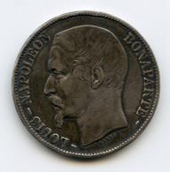 5 Francs, Argent, 1852.A. Paris. Louis Napoléon Bonaparte. /41 - J. 5 Francs