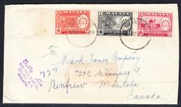 Malaya (Negri Sembilan), Postmark Feb 23, 1952 - Negri Sembilan