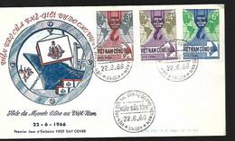 Vietnam  FDC   22.06  1966 Aide Du Monde Libre - Vietnam