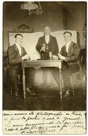 Partie De Cartes à Jouer Chez Un Vigneron. Carte Photo Année 1905. - Carte Da Gioco