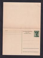 1 S. Grün Doppel-Ganzsache (P 340II) - Ungebraucht - Stamped Stationery