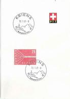 """ET Werbedatumstempel  """"Kriens - Wandergebiet Am Pilatus""""            1960 - Covers & Documents"""