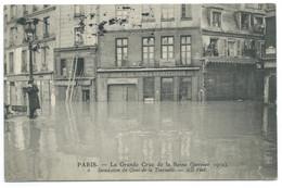 CPA PARIS INONDATIONS DE 1910 / LA GRANDE CRUE DE LA SEINE / QUAI DE LA TOURNELLE / POUR LA BAVIERE - De Overstroming Van 1910