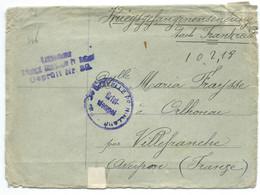 ENVELOPPE SANS CORRESPONDANCE / PRISONNIER DE GUERRE / WW1 - 1. Weltkrieg 1914-1918