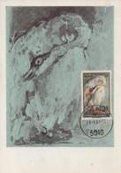 "MAXIMUM CARD - MAXICARD - MAXIMUM KARTE - CARTE MAXIMUM - AUSTRICHE - ""LE CYGNE"" PAINTEUR DE OSKAR KOKOSCHKA - Swans"