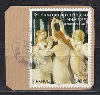 < France Adhésif AA 509 (4519)..oblitéré Sur Fragment .. Sandro Botticelli Les 3 Grâces .. - Luchtpost