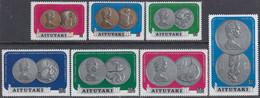 Aitutaki 1973 - Definitive Stamps: Cook Island Coins - Mi 69-75 ** MNH - Aitutaki