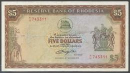 Ref. 6457-6963 - BIN RHODESIA . 1978. RHODESIA 5 DOLLARS 1978 - Rhodesia