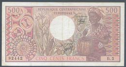 Ref. 6405-6911 - BIN CENTRAL AFRICAN REPUBLIC . 1981. REPUBLICA CENTROAFRICANA 1981 500 FRANCS - Central African Republic
