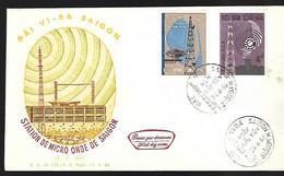 Vietnam  FDC   24 04 1966  Staton De Micro Onde - Vietnam