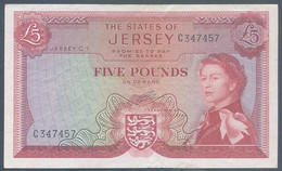 Ref. 4920-5423 - BIN JERSEY . 1963. JERSEY 5 POUNDS 1963 - Jersey