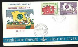 Vietnam  FDC   25 11 1965 Jeunesse Rurale - Vietnam