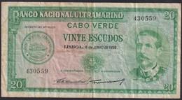 Ref. 3694-4131 - BIN CAPE VERDE . 1958. CABO VERDE 20 ESCUDOS 1958 - Cape Verde