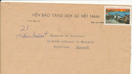 Vietnam Cover Sent To Denmark 22-12-1976 Single Franked - Vietnam