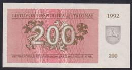 Ref. 2928-3351 - BIN LITHUANIA . 1992. LITHUANIA 200 TALONAS 1992 - Lituanie