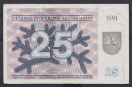 Ref. 2904-3327 - BIN LITHUANIA . 1991. LATVIA 25 TALONAS 1991 - Lituanie
