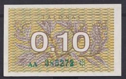 Ref. 2897-3320 - BIN LITHUANIA . 1991. LATVIA 0;10 TALONAS 1991 - Lituanie