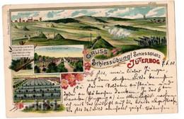 GRUSS SCHIESSUBUNG! Schiessplatz JUTERBOG 1900 - Gruss Aus.../ Gruesse Aus...