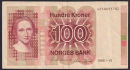 Ref. 2366-2789 - BIN NORWAY . 1985. NORWAY NORGES 100 KRONER 1985 - Norway