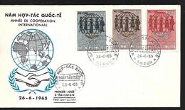 Vietnam  FDC  26 06 1965  Année De La Coopération - Vietnam