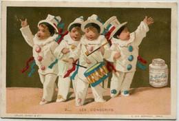 Chromo LIEBIG : S 54 / 2 - Pierrots En Soldats / Pierrots Soldati  - 1873/1878 - Liebig