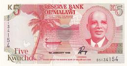 Ref. 1727-2150 - BIN MALAWI . 1994. 1994 MALAWI 5 KWACHA - Malawi