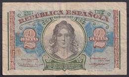 Ref. 686-4452 - BIN SPAIN . 1938. 2 PESETAS REPUBLICA 1938 S / C. 2 PESETAS REPUBLICA 1938 S/C - 1-2 Pesetas