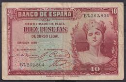 Ref. 414-4448 - BIN SPAIN . 1935. 10 PESETAS 1935. 10 PESETAS 1935 - 10 Pesetas