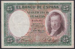 Ref. 409-4442 - BIN SPAIN . 1931. 25 PESETAS VICENTE LOPEZ 1931. 25 PESETAS VICENTE LOPEZ 1931 - 25 Pesetas