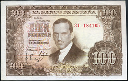 Ref. 240-371 - BIN SPAIN . 1953. 100 Pesetas 7th April 1953 - Julio Romero De Torres. 100 Pesetas 7 De Abril De 1953 - J - 100 Pesetas
