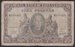 Ref. 238-4455 - BIN SPAIN . 1940. 100 Pesetas 9th January 1940 - Columbus. 100 Pesetas 9 De Enero De 1940 - Colon - 100 Pesetas