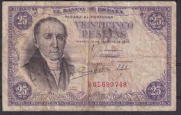 Ref. 230-4473 - BIN SPAIN . 1946. SPAIN 25 PESETAS 1946  FLOREZ ESTRADA - 25 Pesetas