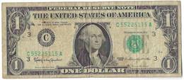 STATI UNITI - UNITED STATES - 1 US $ 1 DOLLARO  WASHINGTON  WYSIWYG  - N° SERIALE C55225115A - CARTAMONETA - PAPER MONEY - Other