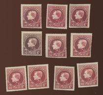 6x 50F Et 4x 100 Montenez **   Cote Minimum 335,-€ - 1929-1941 Big Montenez