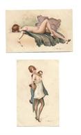 ILLUSTRATEUR - PENOT - 4 CP - Modeles D'atelier Femmes Tenues Legeres Bon état - Autres Illustrateurs