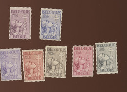 377/383 *   Cote  285,--€.   Croix De Lorraine Avec Charnière. Mint N.H. - Unused Stamps