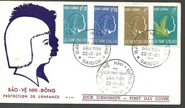 Vietnam 22 03 1961 Fdc Saigon - Vietnam