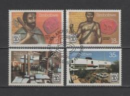 (S2671) ZIMBABWE, 1985 (50th Anniversary Of The National Archive). Complete Set. Mi ## 331-334. Used - Zimbabwe (1980-...)