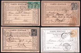 Francia 4 Postal Cards VF/F - 1921-1960: Modern Period