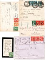 Francia 22 Various Postal Documents VF/F - 1921-1960: Modern Period