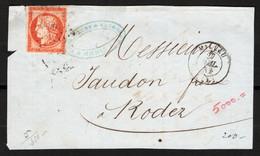 Francia 1854 Frontespizio / Front Cover Unif. 5 O/Used F - 1877-1920: Semi Modern Period